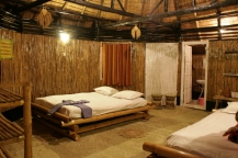 Inside View of Bamboo Huts